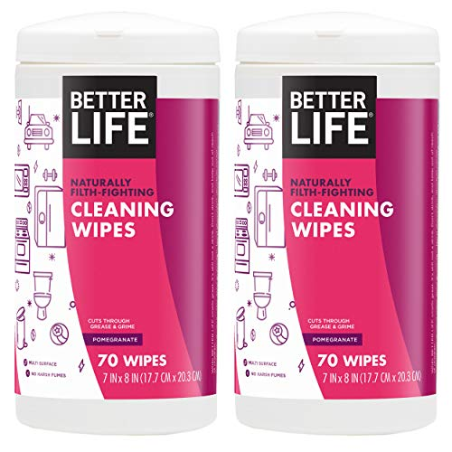 Better Life Natural AllPurpose Cleaning Wipes, Pomegranate, 140 Count