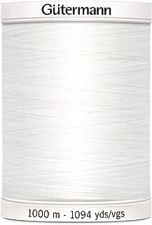 3000Yds//Bobine 100/% coton blanc machine à coudre fil 40S//2 pour tout usage