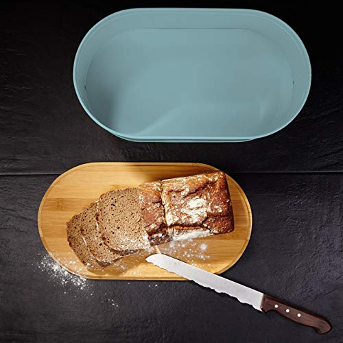 Lumaland Cuisine Bread Bin with Bamboo Lid - Mint
