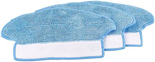 Sichler Haushaltsgeräte Zubehör zu Kehrroboter: 3er-Set Boden-Wischtücher für Reinigungsroboter PCR-3550UV/PCR-2000 (Akkusauger)