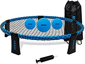 Ukoon Spike Ball Beach Game for Adults and Family-Volleyball Spike Game-Outdoor/Indoor Game Set(Upgraded Version)-Played Backyard/Lawn-Gift for Boys and Teenager,Includes 3 Balls,Net,Pump,Carry Bag