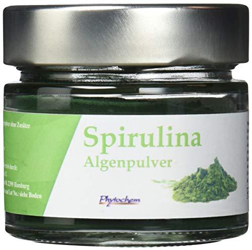 SPIRULINA | reines Spirulina Pulver ohne Zusätze im hochwertigen Glas | 70 Gramm | Premium Qualität aus Deutschland