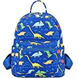 Cute Toddler Backpack for Little Boys Dinosaur Kids School Bags Small Children Travel Bag for Preschool Kindergarten Sized 1-5 Years (Dino-Dark Blue)