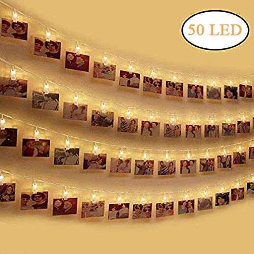 Dricar 50 Photo Clip String Lights, Battery Powered...