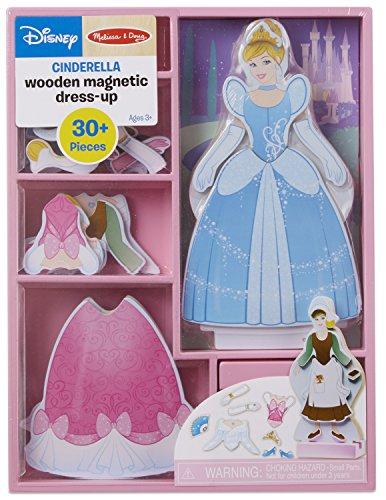 Melissa & Doug Disney Cinderella Magnetic Dress-Up Wooden Doll Pretend Play Set