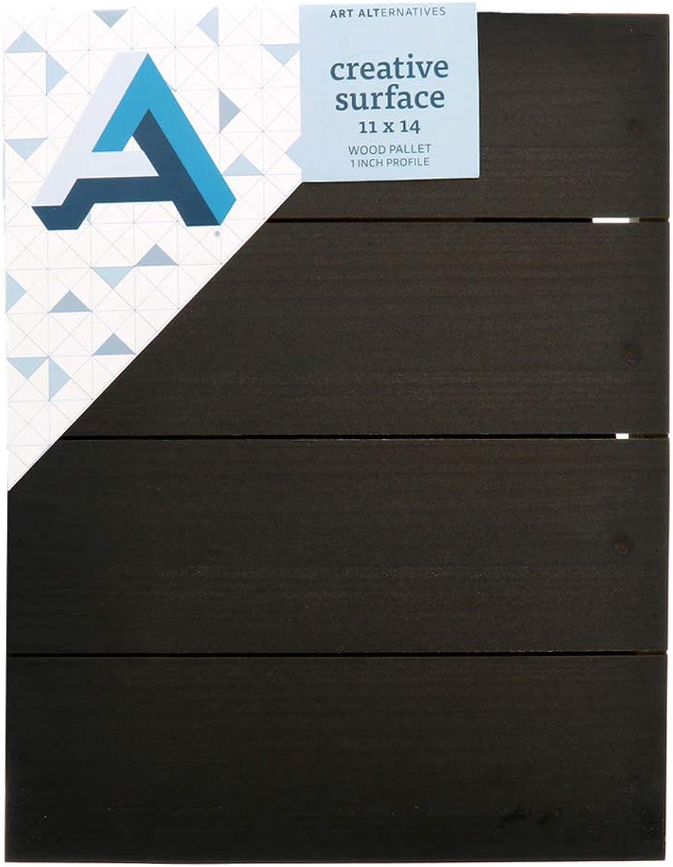Art Alternatives Creative Surface, Wooden Pallet, Ebony Finish, 11x14 inches, 1 inch Depth (AALSWPB1114) B07JFQGKV3  | Qualität und Quantität garantiert