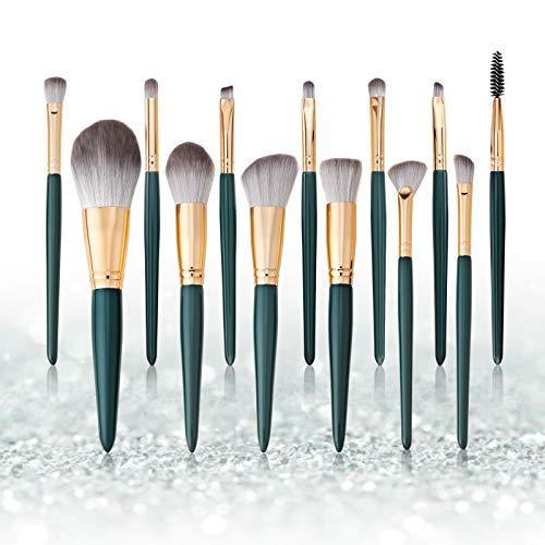 Set de brochas de maquillaje profesional Subsky 13 piezas Pinceles de maquillaje Set Premium Synthetic Foundation Brush Blending Face Powder Blush Concealers Kit de pinceles (E)