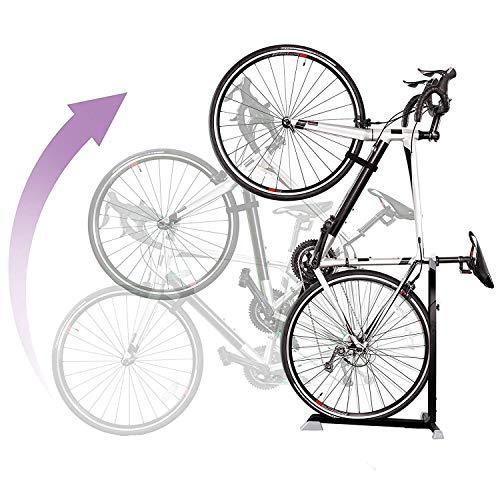 Bike Nook - Supporto per bicicletta, portatile e fisso, salvaspazio, con altezza regolabile, per...