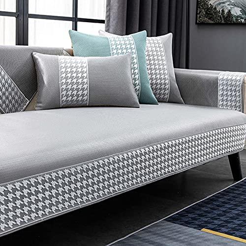 SXFYHXY Cojín de enfriamiento de Verano Funda de sofá de Seda de Hielo Transpirable Utilizada para el sofá seccional Personalizado de la Silla del Dormitorio Varias especificaciones