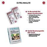 Notfall Erste Hilfe Set mit Inhalt aus Deutschland nach DIN 13167 + Notfallbeatmungshilfe + Burnshield-Gel für Brandwunden - 3