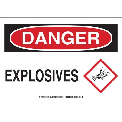 Brady Bombing free shipping 131776 Sign B302 Minneapolis Mall Polyester Blk Wht Pack 10X14 15 of Red