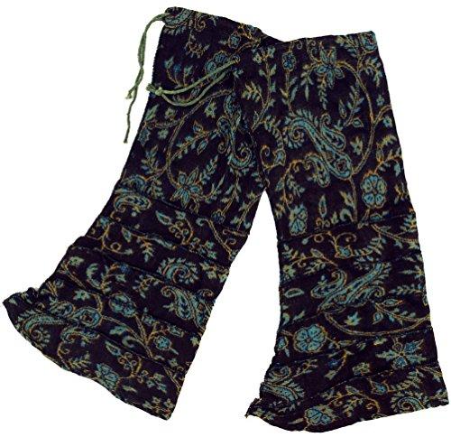 Guru-Shop Beinstulpen, Goa Legwarmer, Herren/Damen, Schwarz/petrol, Synthetisch, Size:One Size, Socken und Beinstulpen Alternative Bekleidung