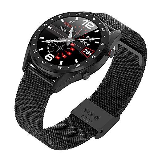 Smartwatch Mit Herzfrequenz, Blutdruck, Schlaf, Ges&heitsüberwachung, Intelligenter Informationserinnerung, Wasserdichter IP68-Sportschrittzähler Smart Watch,D