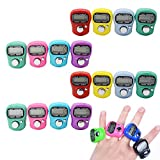 CUGBO 16 Pack Case Resettable Digital Finger Counter Hand Tally 5 Digit LCD Electronic Handheld Laps Counter,Assorted Colored