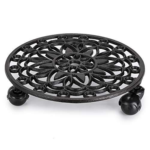 Skelang - Carrito para plantas con ruedas de freno, hierro f