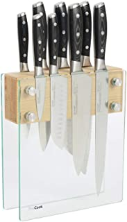 ProCook Professional X50 - Set de Couteaux de Cuisine - 8 Pièces - Lame Allemande en Acier Inoxydable - Avec Bloc Magnétiq...