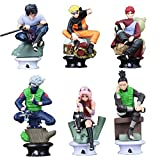 Qwead 6 Unids / Lote Anime Naruto Sasuke Gaara Shikamaru Figura De Acción PVC Figuras De Colección M...