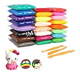 IMTION ( Clay Set of 12 Colours Colors Air Dry Clay for Kids + Free Cartoon Striker ) DIY Ultra Light Modelling Bouncing Clay with Tools for Kids 12 Different Color Clay ((Clay Pack of 12 pcs ) DF) 100 % perfect choice of purchase buy imtion brand pr...