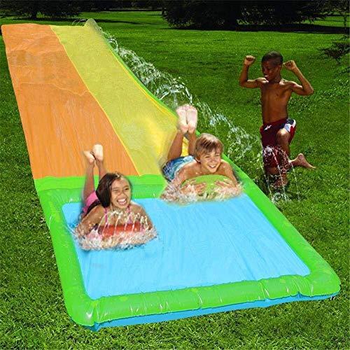 Toboganes de agua for el patio trasero, desplazamiento y deslizamiento N piscina con agua de riego Splash for niños verano de los niños del patio trasero Piscina al aire libre Juegos Juguetes de agua