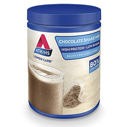 Atkins High Protein Shake Powder, Keto, Low Carb, Low Sugar, Chocolate Shake Mix, 10 Servings 370 g
