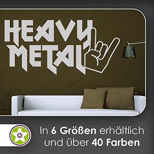 hauptsachebeklebt KIWISTAR Heavy Metal Hand Hörner - Hardrock Rock Zeichen Wandtattoo in 6 Größen - Wandaufkleber Wall Sticker