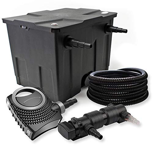 SunSun Kit de Filtration de Bassin 12000l 24W UVC 6. Stérilisateur NEO8000 70W Pompe Tuyau