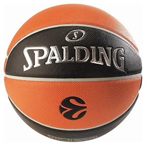 Euroleague Baloncesto Oficial de Carrera TF500 Spalding, Naranja/Negro, 7