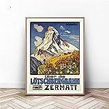 Zermatt Poster | Schweiz Wandkunst | Schweizer Kunstdruck |