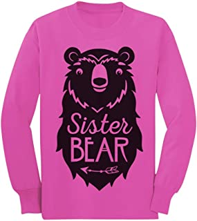Big Sister Bear Cute Gift Sibling Girl Family Toddler/Kids Long Sleeve T-Shirt
