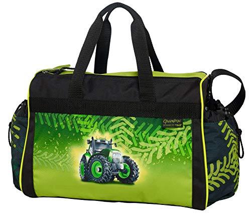 GREENTRAC Traktor Bulldog - McNeill Schulsporttasche, Sporttasche Schwimmtasche mit NASSFACH Freizeittasche Kindertasche