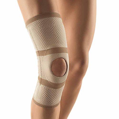 Bort Kniebandage Patella-Aussparung Knie Gelenk Bandage Stabiliserung Entlastung, hautfarben, XXL