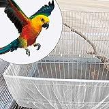 Zouminyy Cubierta de Tela de Red, Protector de Atrapador, Cubierta Liviana para Jaula de pájaros, Cubierta de Jaula de pájaros ventilada, Malla Blanca para pájaros de Jaula de pájaros(Small)