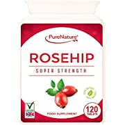 ROSEHIP PURE New Double Strength  5000mg, 120 Tablets Suitable for Vegans, Vegetarians & Diabetics FREE UK DELIVERY