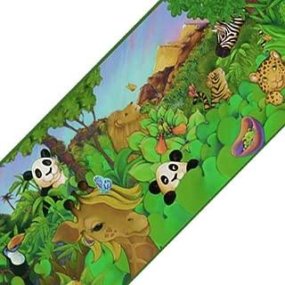 Sure Strip Cartoon Jungle Animals Prepasted Wallpaper Border Roll