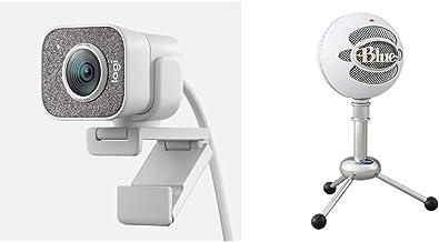Logitech for Creators StreamCam Premium Webcam, Full HD 1080p 60 fps, Premium Glass Lens, Smart Auto-Focus, White and Blue...