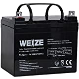 Weize 12V 35AH Battery Rechargeable SLA Deep Cycle AGM Replace 12 Volt 33AH 34AH 36AH 30AH, in...