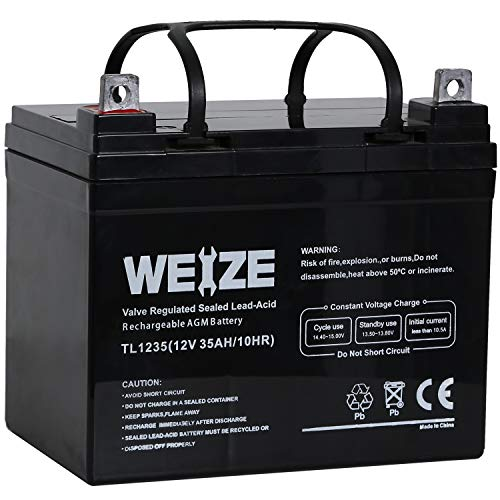 Weize 12V 35 AH Lawn Tractor Battery