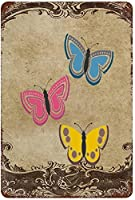 ブリキの絵蝶の束鉄の絵垂直プレート金属ブリキの看板家、バー、ダイナー、パブ、または男の洞窟のためのヴィンテージのユニークな金属の壁の装飾