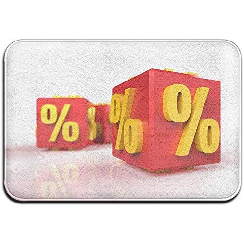 N/A Prozent Symbol Outdoor Gummimatte Vordertürmatten Veranda Garage Large Flow Slip Entry Teppich