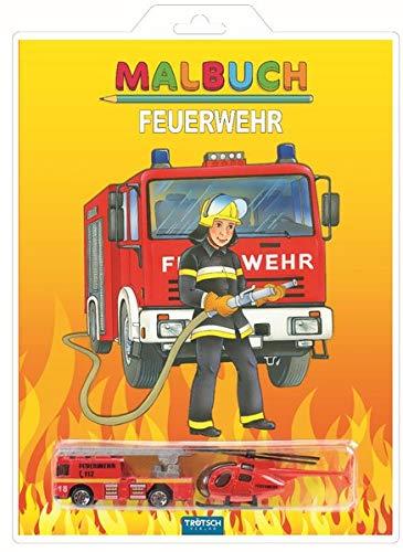 Malbuch 'Feuerwehr': mit 2 Spielzeugen (Malbücher mit ..., Band 2)