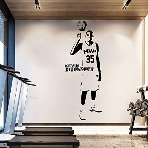 yaofale Abnehmbare Tapete Basketball Wandaufkleber Home Decor Poster Warriors Star Oklahoma City Thunder