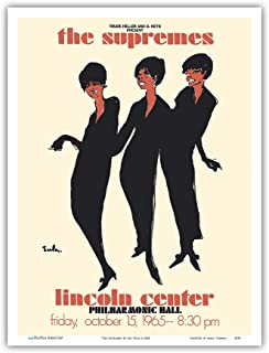 The Supremes - 1965 Lincoln Center, Philharmonic Hall Concert - Vintage Music Poster by Joe EULA c.1965 - Master Art Print 9in x 12in