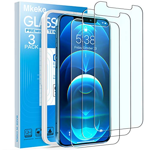 Mkeke Compatible with iPhone 12 Pro Max Screen Protector, Screen Protector for iPhone 12 Pro Max 6.7 inches 2020-3Pack