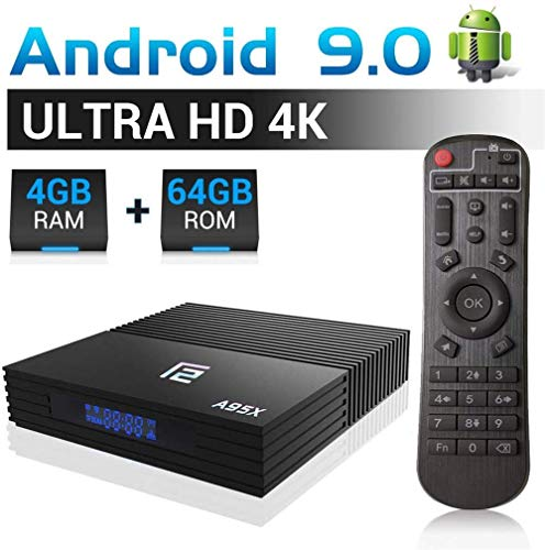 Android TV Box 4GB RAM 64GB ROM A95X F2 Android9.0 TV Box Amlogic S905X2 Quad-Core 64bits Dual-WiFi 2.4G/5.0G/ 3D 4K Ultra HD/ H.265/ USB 3.0/ HDMI 2.0 Smart TV Box