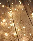 Litogo Luci LED Batteria, Catena Luminosa 5m 50 LED Fairy Light Filo Rame Ghirlanda Lumino...