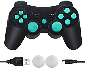 CFORWARD PS3 Controller Wireless, PS3 Joystick, Play 3 Remote Double Vibration 6-Axis Gamepad Compatible with Playstation ...