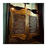 GDMING Louvered Puertas De Cafe Interior Puertas Batientes, Retro Decoración...