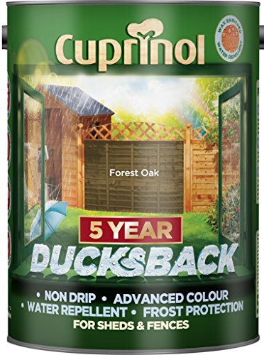 Cuprinol 5 Litre, 5 Year Ducksback Colours Forest Oak