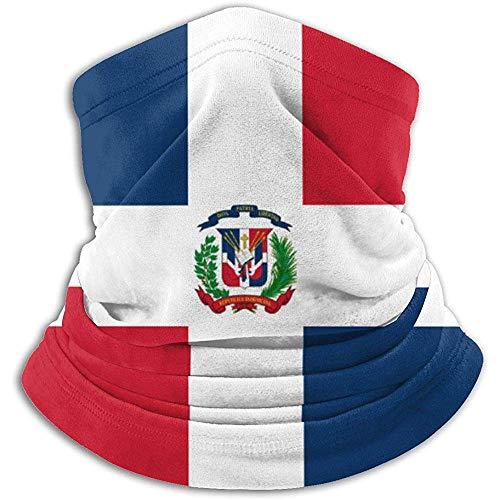 GWrix vlag van de Dominicaanse Sovjet-Unie nekwarmer, bivakmuts, skimasker, koud weer, wintermutsen, mutsen voor mannen en vrouwen, zwart