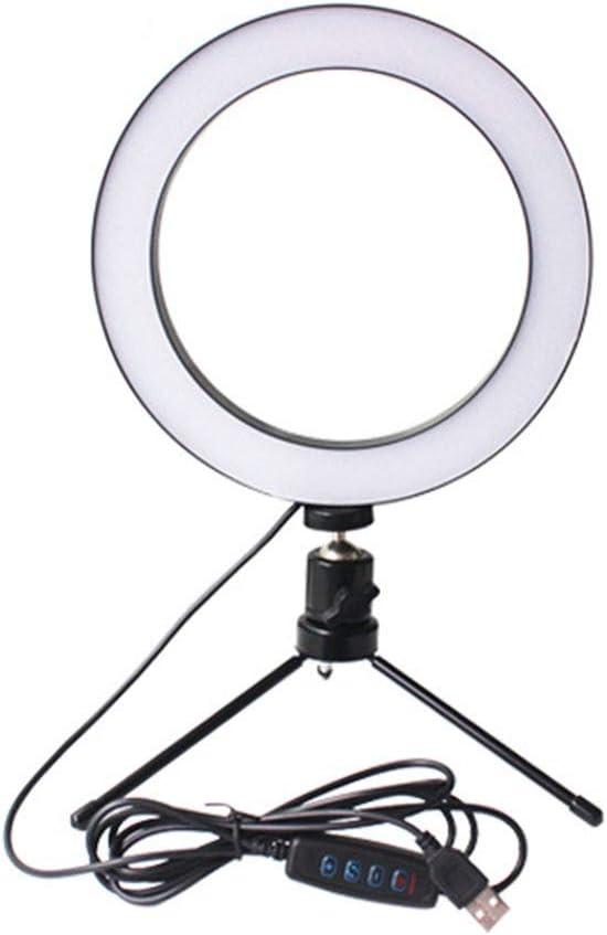 KATUEF Denver Mall 3-Color LED Ring Fill Trip Adjustable Desktop Light Max 40% OFF with